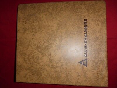 Allis Chalmers brown Binder three-ring empty Tractor Equipment Manual Industrial