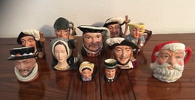 Royal Doulton Lot of 11 Toby Jug Mugs
