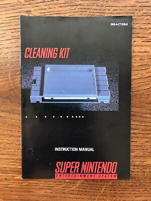 Cleaning Kit SNES Super Nintendo Instruction Manual Only