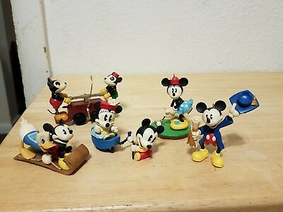 Hallmark Christmas Ornaments Lot of 5 Disney Mickey Mouse Minnie Donald
