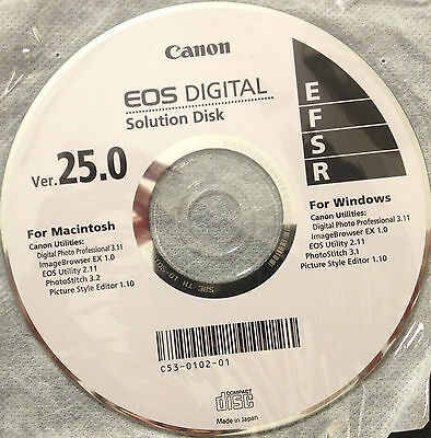 Canon EOS Digital Solution Disk 25.0 CD For Windows and for Macintosh