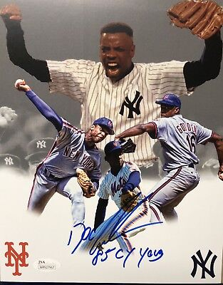 """Dwight """"Doc"""" Gooden JSA signed 8x10 inscribed '85 CY Young Mets Yankees"""