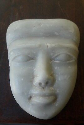 UNIQUE Egyptian Alabaster Hand Carved Face
