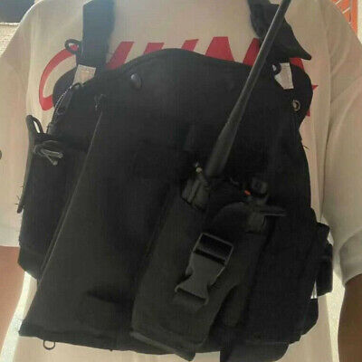 Radio Chest Harness Chest Pack Pouch Holster Vest Rig for Kenwood 2Way Radio