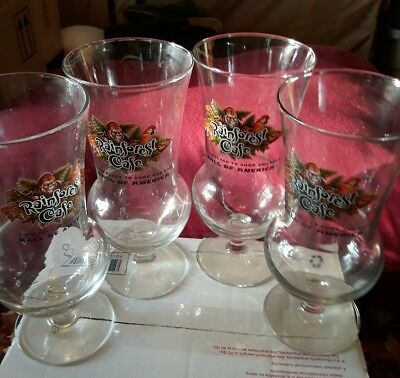 Rainforest cafe lot of 5 hurricane glasses Mall of America