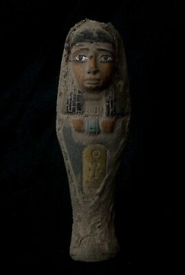 EGYPT ANTIQUES EGYPTIAN MUMMY Shabti Ushabti PHARAOH STATUE Old Carved STONE BC