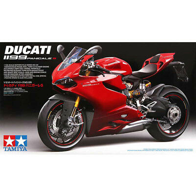 Tamiya 14129 1/12 Scale Model Motorcycle Kit Ducati 1199 Panigale S Sport Bike