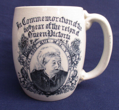 Commemorative Mug Queen Victoria's 60th Year on the Throne...WH Schofield (Brigh