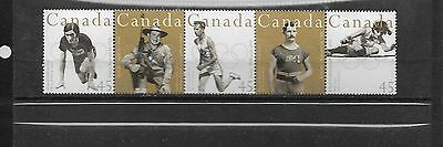 pk39409:Stamps-Canada #1612a Olympics Strip of 5 Issues - MNH