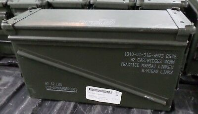 One Extra Large Genuine Metal AMMO BOX,US Army Military empty waterproof storage