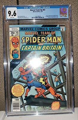 Marvel Team-Up #65 - CGC 9.6 - White Pages - 1st Captain Britain - NEW