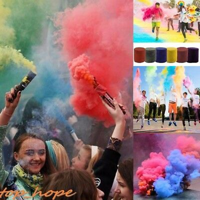 Smoke Cake Effect Show Prop Colorful Round Party Photography Gadget Aid Tool Toy