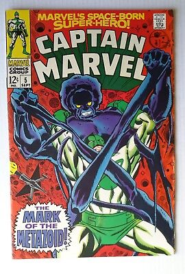 Marvel comics. 'Captain Marvel ' #5,#6. 196 8.Very Fine /8.0.