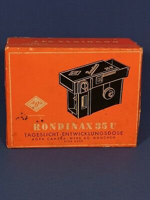 BOXED AGFA RONDINAX 35U DAYLIGHT DEVELOPING TANK, EXC with instructions.