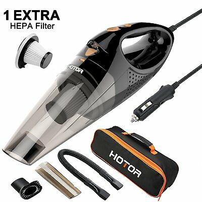 HOTOR Corded Car Vacuum Cleaner with LED Light DC12-Volt Wet/Dry Portable Han...