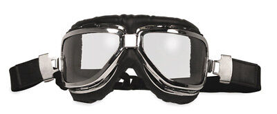 Global Vision Eyewear Classic-1 Chrome Goggles with Clear Lens