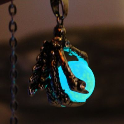 Dragon Claw Necklace Pendant Luminous Locket Magic Jewels Us Glow Dark Steampunk