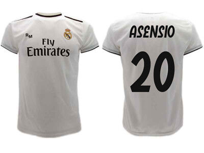 competitive price 38e46 287bd SHIRT REAL MADRID Asensio 2019 Official Uniform 2018 Marco 20 Home Bianca
