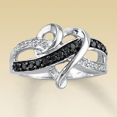 Heart Zircon Crystal Engagement Ring Women's 925 Silver Wedding Band Size 6-11