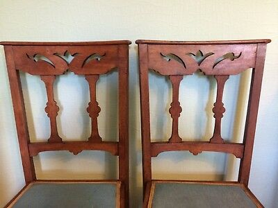 Two Antique Liberty & Co. Arts and Crafts' Oak Dining/Occasional Chairs