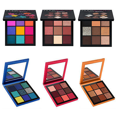 9 Colors Huda Beauty Gemstone Warm Brown Obsessions Coral Ruby Eyeshadow Palette