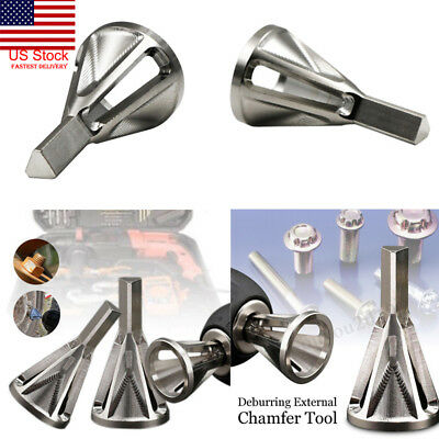 US Stainless Steel Silver Deburring External Chamfer Tool Bit Remove Burr Repair
