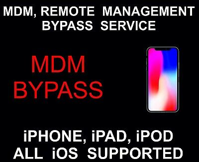 MDM, Remote Management, Bypass, Remove, unlock: All iOS Supported, iPhone, iPad