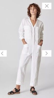 5fa432cebc0 WHISTLES WHITE LINEN Relaxed Jumpsuit Size XS New With Tags - £25.00 ...