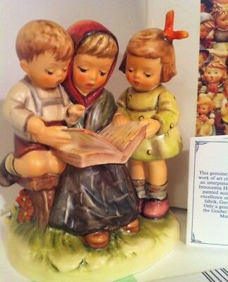 RARE • LARGE STORYBOOK TIME MOM KIDS HOME SCHOOL Hummel BOX Porcelain Figurine