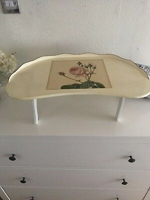 Vintage Lap/Bed Tray. Laptop Tray? Traditional English Rose Design. Beautiful.