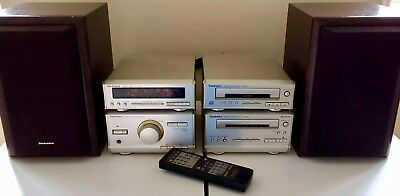Technics Hi-Fi Component Stack System Hd301 Including Speakers & Remote Control