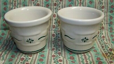 2 Longaberger Green Traditional Weave  Votive Candle Holders Made In Usa