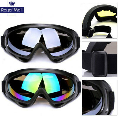 Burning Man Motorcycle Goggles Clear Lens Fit Over Fitover Prescription Glasses