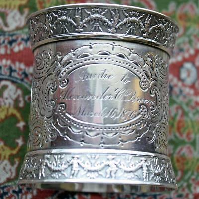 Antique Gorham Coin Silver Napkin Ring, American Silver, Exquisite & Heavy