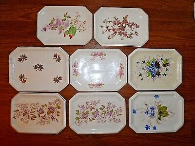 8 Antique Staffordshire Master Butter Plates Trays Pats England
