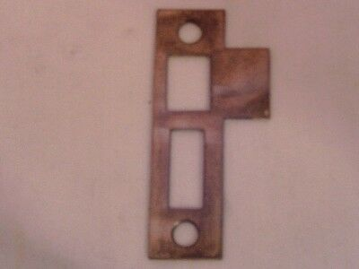 "Antique steel interior Strike Plates 3 1/4"" long #624"