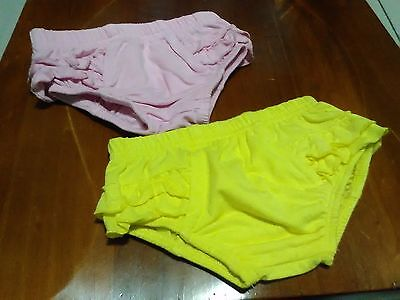 Baby Girls Nappy Cover Set with ruffled backsides   .... EUC