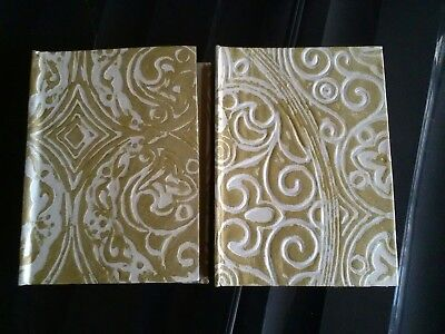 x2 gold photo albums, new