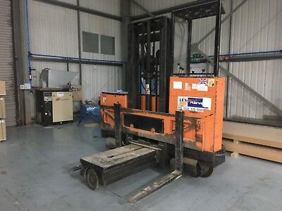 Hunslet 4 Way narrow isle reach electric forklift