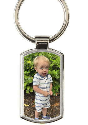 Personalised Key ring any photo any text Metal Gift boxed Ideal Xmas present