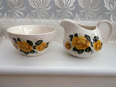 Ridgway Princess Rose Milk Jug And Sugar Bowl