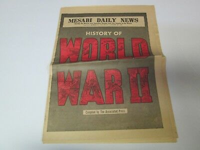 MESABI DAILY NEWS October 20, 1945 HISTORY OF WORLD WAR II Newspaper