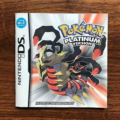 Pokemon Platinum Version Nintendo DS Gameboy Instruction Manual Only