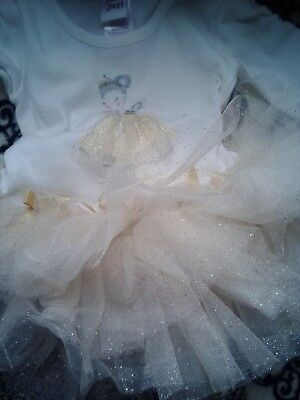 BABY BERI boutique tutu ballerina baby girl outfit dress pants bows 6/9 months