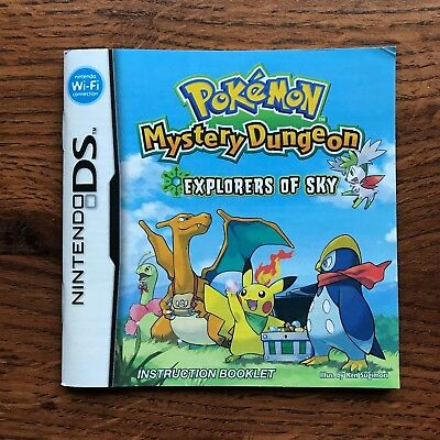 Pokemon Mystery Dungeon Explorers of Sky Nintendo DS Gameboy Manual Only