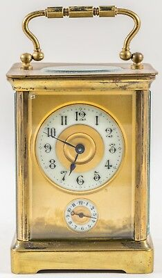 Fine Antique FRENCH Carriage Clock with Alarm Bell