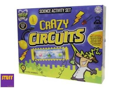 Science Experiment Set Crazy Circuits Electricity Childrens Kids Activity Kit