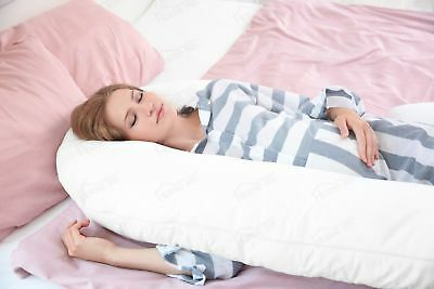 Big 9ft U-Shape Full Body Support Pillow with Removable Zip Cover Spooning Pilow