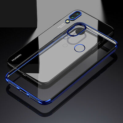 For Huawei P20 Lite/Nova 3E Plating Soft TPU Case Cover Slim Hybrid Transparent