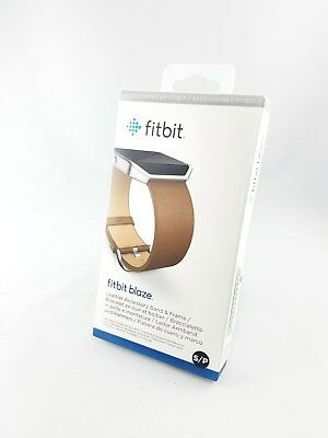 Fitbit Blaze Replacement Leather Accessory Band & Frame -SMALL,Brown. Brand NEW!